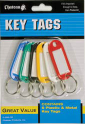 Plastic and Metal Key Tags